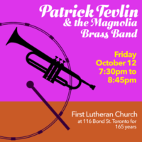 Friday 12 October 7:30pm @first Lutheran