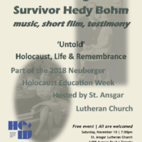 Holocaust Remembrance at St.Ansgar